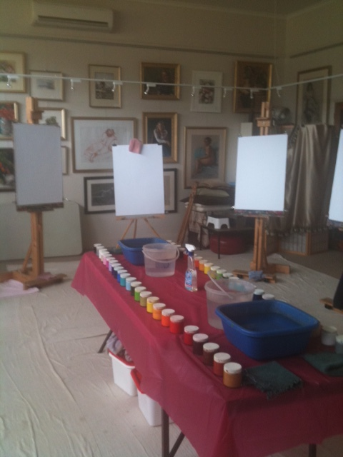 Workshop in Bonnie Doon at the studio of renowned artist Pamela Moore - click to see an enlarged version of this image