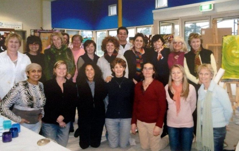 Workshop with Carol Levow from America - click to see an enlarged version of this image