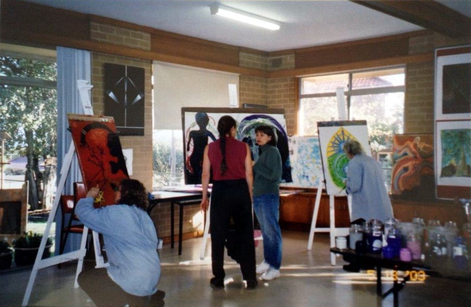 Workshop with Natalia Rosenfeld from America - click to see an enlarged version of this image