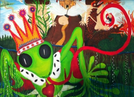The frog painting finished - click to see an enlarged version of this image