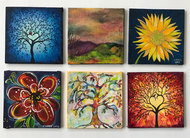 Some of my 4-inch paintings - click to see an enlarged version of this image
